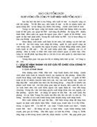 Báo cáo tổng hợp hoạt động của công ty Xuất nhập khẩu tổng hợp I