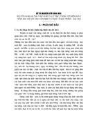 Thực trạng giờ học nghe của sinh viên năm thứ nhất Khoa du lịch viện đại học Mở Hà Nội