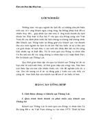Báo cáo thực tập tổng hợp tại khách sạn Thắng Lợi