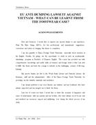 Eu anti dumping lawsuit against vietnam what can be learnt from the footwear case 1