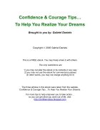 Confident and Courage Tips To Help You Realize Your Dreams