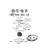 Thọ Mai gia lễ diễn nghĩa Xuất bản 1927