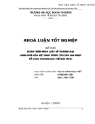 Hoàn thiện pháp luật về thương mại hàng hoá của Việt Nam trước yêu cầu gia nhập Tổ chức Thương mại Thế giới WTO
