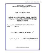 Nâng cao năng lực cạnh tranh của Ngân hàng thương mại Tây Ninh trong thời kỳ hội nhập