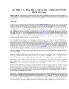 Các nhân tố tác động đến cơ cấu vốn của công ty niêm yết trên thị trường chứng khoán Việt Nam