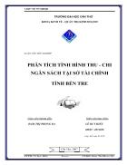 Phân tích tình hình thu chi ngân sách tại Sở Tài chính tỉnh Bến Tre