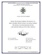 Phân tích hoạt động tín dụng và một số biện pháp nâng cao hoạt động tín dụng tại PGD Khánh Hưng Chi nhánh NHNo PTNT Sóc Trăng