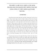Tìm hiểu và đề xuất chiến lược kinh doanh cho chi nhánh Viễn thông 5 Hà Nội Tổng Công ty Viễn thông Quân đội VIETTEL