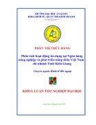 Phân tích hoạt động tín dụng tại Ngân hàng Nông nghiệp và phát triển nông thôn chi nhánh tỉnh Kiên Giang