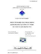 Phân tích hiệu quả hoạt động kinh doanh tại Công ty TNHH Tư Vấn Và Xây Dựng TVT