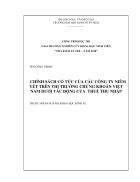 Chính sách cổ tức của các công ty niêm yết trên thị trường chứng khoán Việt Nam dưới tác động của thuế thu nhập