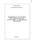 Định hướng và các giải pháp phát triển thương mại vùng ven biển các tỉnh phía bắc đến năm 2010