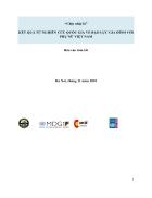 Nghiên cứu quốc gia về bạo lực gia đình với phụ nữ ở Việt Nam báo cáo tóm tắt