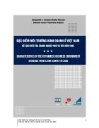 Đặc điểm môi trường kinh doanh ở Việt nam Kết quả điều tra doanh nghiệp nhỏ và vừa năm 2005