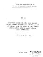 Chuyển dịch cơ cấu lao động nông thôn nhằm tạo việc làm và sử dụng hợp lý nguồn lao động vùng Đồng Bằng Sông Hồng đến năm 2000