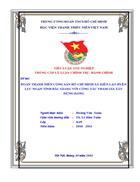 Đoàn thanh niên Cộng sản Hồ Chí Minh xã Kiên Lao huyện Lục Ngạn tỉnh Bắc Giang với công tác tham gia xây dựng Đảng