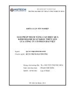 Giải pháp nâng cao hiệu quả kinh doanh xuất khẩu thủy sản của công ty cổ phần Hải Việt