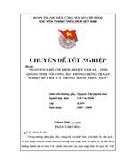 Đoàn TNCS Hồ Chí Minh huyện Đầm Hà tỉnh Quảng Ninh với công tác phòng chống nghiện hút ma tuý trong thanh thiếu niên
