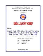 Nâng cao công tác quản trị mua hàng nội địa tại Công ty TNHH thương mại DV In ấn Bao Bì TÍN THÀNH