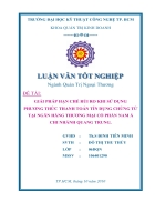 Giải pháp hạn chế rủi ro khi sử dụng phương thức thanh toán Tín dụng Chứng từ tại Ngân hàng Thương mại Cổ phần Nam Á Chi nhánh Quang Trung