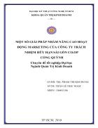 Một số giải pháp nhằm nâng cao hoạt động marketing của Công ty trách nhiệm hữu hạn Sài Gòn Co op Cống Quỳnh