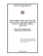 Hoàn thiện công tác quản trị chất lượng toàn diện TQM tại công ty TNHH Decathlon Việt Nam