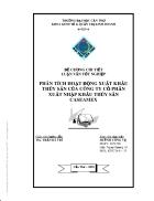 Phân tích hoạt động xuất khẩu thủy sản của công ty cổ phần xuất nhập khẩu thủy sản caseamex