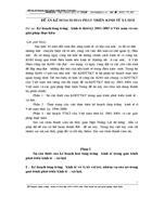 Kế hoạch tăng trưởng kinh tế thời kỳ 2001 2005 ở Việt nam và các giải pháp thực hiện