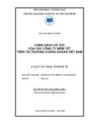 Chính sách cổ tức của các công ty niêm yết trên thị trường chứng khoán Việt Nam