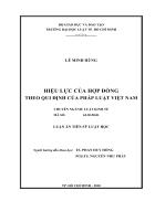 Hiệu lực của hợp đồng theo qui định của pháp luật việt nam
