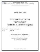 Yếu tố kỳ ảo trong truyện ngắn gabriel garcia marquez