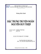 Đặc trưng truyện ngắn Nguyễn Huy Thiệp
