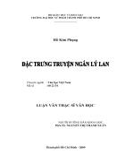 Đặc trưng truyện ngắn Lý Lan