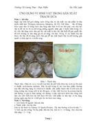 Ứng dụng vi sinh vật trong sản xuất thạch dừa