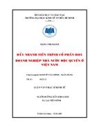 Đẩy nhanh tiến trình cổ phần hóa doanh nghiệp Nhà nước độc quyền ở Việt Nam