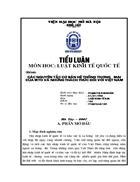 Các nguyên tắc cơ bản hệ thống thương mại của wto và những thách thức đối với Việt Nam