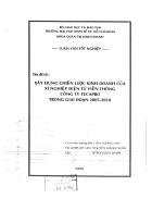 Xây dựng chiến lược kinh doanh của xí nghiệp điện tử viễn thông công ty Tecapro giai đoạn 2055 2010