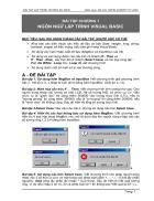 Bài tập lập trình Visual Basic 6 0