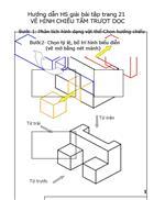 Hướng dẫn HS cách vẽ hình chiếu