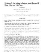 Nghị quyết Đại hội Đảng lần thứ XI