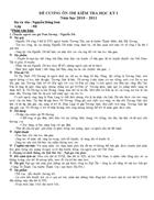 Đề cương ôn tập ngữ văn 9 học kì 1