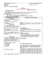 Giáo án dạy thêm ngữ văn 11