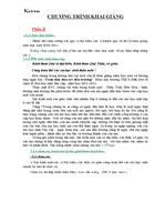 Kịch bản chương trình lễ khai giảng