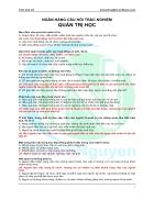 200 câu trắc nghiệm môn quản trị học có đáp án pdf word
