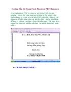 Hướng dẫn sử dụng Foxit Phantom PDF Business