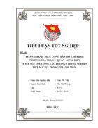 Hồ Chí Minh phường Gia Thụy quận Long Biên Hà Nội với công tác phòng chống nghiện hút ma túy trong thanh niên