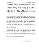Hoàn thiện dịch vụ chăm sóc khách hàng của công ty TNHH Mai Linh Nam Định