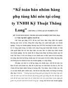 Kế toán bán nhóm hàng phụ tùng khí nén tại công ty TNHH Kỹ Thuật Thăng Long 3