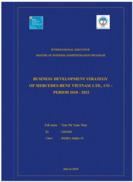 Business development strategy of mercedes-benz vietnam ltd., co –period 2018 - 2022