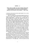 Thực trạng hiệu quả hoạt động môi giới Chứng khoán tại Công ty Trách nhiệm Hữu hạn Chứng khoán Ngân hàng Công thương Việt Nam chương hai